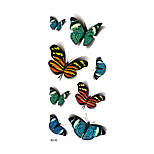 1pc Women Waterproof Temporary Tattoo Simulation Vivid Body Art Colorful Blue Green Butterfly 3D-22