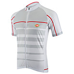 Sports Bike/Cycling Tops Men's Short Sleeve  Front Zipper / Seamless / Reduces Chafing / Ultra Light Fabric / Soft