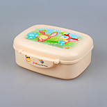 YEEYOO Brand  Microwave Safe Plastic Bento Lunch Box for children with spoon