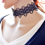 Necklace Choker Necklaces Jewelry Party / Daily / Casual / Sports Sexy / Fashion / Bohemia Style / Punk Style / Adorable Lace Black1set /