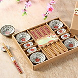 Ceramic Tableware Suit Dishes Chopsticks Gift Box