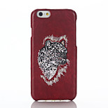 espalda Other Animal PC Duro embroidery Cubierta del caso para Apple iPhone 6s Plus/6 Plus / iPhone 6s/6 / iPhone SE/5s/5