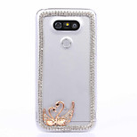 DIY Swan Pattern PC Hard Case for Multiple LG G3 G4 G5 G5SE V10 K10 K7 K4