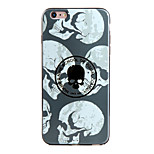 Shockproof / Frosted / Embossed / Pattern White Skull TPU Soft  Case Cover For IPhone 6/6s/6plus/6s plus