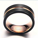 Ring Fashion Daily / Casual Jewelry Tungsten Steel Men Band Rings 1pc,7 / 8 / 9 / 10 / 11 / 12 Gold / Black