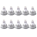 3W MR16 LED Spotlight MR16 1 COB 380LM lm Warm White / Cool White Dimmable / Decorative AC 110-130 / AC 12 V 10 pcs