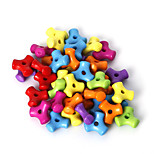 beadia perline sparse colori assortiti perline acrilici 10 millimetri di plastica distanziali (50g / ca 220pcs)