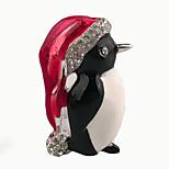 Women's Lovely Little Animal Brooch Christmas Jewelry Alloy Enamel Crystal Rhinestone Daily/Casual Brooch As Gift