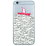 Para Capinha iPhone 6 / Capinha iPhone 6 Plus Estampada Capinha Capa Traseira Capinha Animal Macia TPU AppleiPhone 6s Plus/6 Plus /