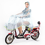Mtb Bike Raincoat Transparent Adult Men And Women Students Big Hat Transparent Poncho
