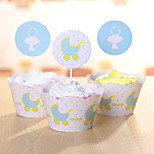 Birthday Party Favors & Gifts-12Piece/Set Cake Boxes Tag Hard Card Paper Classic Theme Cylinder Non-personalised Blue