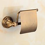 Porte Papier Toilette / Laiton Antique / Fixation Murale /5.5*3.5*7.1 inch /Laiton /Antique /14cm 8.5cm 0.8