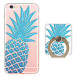 Pineapple Pattern Ring Holder Ultra-thin Translucent Soft TPU Back Cover for iPhone 6s Plus/6 Plus/6s/6/SE/5s/5