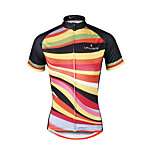 Breathable and Comfortable Paladin Summer Male Short Sleeve Cycling Jerseys DX686 Striped