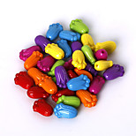 Beadia Assorted Color Acrylic Beads 8x12mm Plastic Spacer Loose Beads(50g/approx 180pcs)