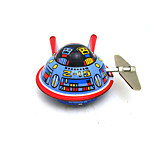 The Spacecraft Wind-up Toy Leisure Hobby  Metal Blue For Kids