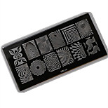 1pcs 12*6CM Nail Art Stamping Plate With High Quality Backplane Design Colorful Image Nail Tools Les Cool06-10
