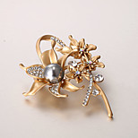 European and American fashion zircon Pearl Brooch Series 014