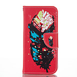 Feather Pattern PU Leather Material Leather Card for Iphone 5 5S SE 6 6S 6 Plus 6S Plus