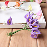 144 Pe Calla Lily Flower Small Foam Bubble Wedding Flowers And Candy Accessories