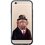 Para Capinha iPhone 6 / Capinha iPhone 6 Plus Anti-poeira / Estampada Capinha Capa Traseira Capinha Cachorro Macia TPU AppleiPhone 6s