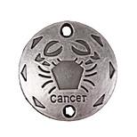 20pcs New Alloy Parts Twelve Constellation Cancer Round Accessories