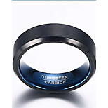 Ring Fashion Daily / Casual Jewelry Tungsten Steel Men Band Rings 1pc,7 / 8 / 9 / 10 / 11 / 12 Black / Blue