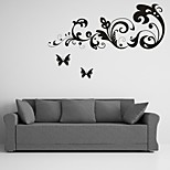 AYA™ DIY Wall Stickers Wall Decals,Butterflies Over Flowers Type PVC Panel Wall Stickers  40*100cm