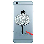 Tree Pattern  Transparent TPU Material Phone Case for iPhone 6 6S 6 Plus 6S Plus