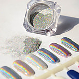 2g/Box Manicure Plating Mirror Powder Colorful Super Flash Powder Laser Silver Flash Powder Metal Nail