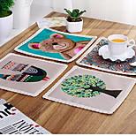 European Contracted Cotton And Linen Cloth Art Pot Pad Eat Mat