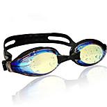 Wave magic color plating swimming goggles swimming goggles myopia glasses lens anti-fog myopia flat YJ02