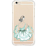 Shockproof/Pattern Sexy Lady Small Blue Skirt TPU Soft Case For Apple iPhone 6s Plus/6 Plus/iPhone 6s/6/iPhone SE/5s/5
