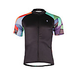 Breathable and Comfortable Paladin Summer Male Short Sleeve Cycling Jerseys DX662 Colored Squares
