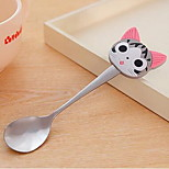 Cute Cartoon Silicone Handle Stainless Steel Spoon Coffee Spoon Stirring Spoon Kitchen With 23G