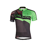Breathable and Comfortable Paladin Summer Male Short Sleeve Cycling Jerseys DX689 Green Move Era