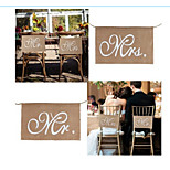 3.3M Vintage Fashion Lace Bunting Rustic Hessian Jute Burlap Banner Wedding Christmas Party Decor Chair Sash
