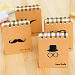 Korea Stationery Black Beard Coil Bronzing Fashion Portable Notepad