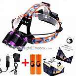 U`King ZQ-X826 XM-L T6 18650  Headlamp  LED 4 Mode 9000ML Adjustable Focus / High Power