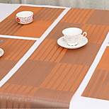 30 * 130cm Environmentally Friendly PVC Placemat Anti - skid Durable Table Runner Placemats (Random Color)