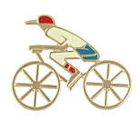 Enamel Human Riding Bike Shape Big Brooches