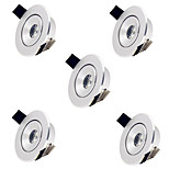 5pcs HRY® 1W Warm Cool White MINI Round LED Recessed Ceiling Down Light Lamps for Living Room Cabinet Bedroom(85-265V)