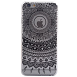 3D Relief Feel Colour Black Flowers Pattern PC Material Phone Shell for iPhone 5 SE 5S 6 6S 6Plus 6S Plus