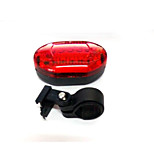 Rear Bike Light LED LED Cycling Compact Size / Small Size AAA 50 Lumens Battery Red Cycling/Bike-Lights