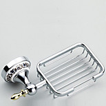 Soap Dish / Chrome / Wall Mounted /22*8*13cm /Brass / Zinc Alloy /Contemporary /22cm 8cm 0.45