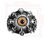 Mens Punk Rings Alondra Evil Eye Stainless Steel Rings Retro Skull Head Ring Vintage Chrome Hearts Men Jewelry