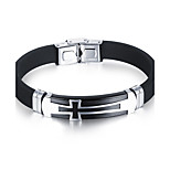 Men's Fashion Jewelry Stainless Steel Vintage Silicone Bangles Cuff Bracelets Casual/Daily Gift Accessories