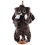 Dog Costume / Clothes/Jumpsuit Gray / Coffee Dog Clothes Winter / Spring/Fall Animal Cute / Cosplay