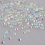 1000 Pcs 4mm  AB Rhinestone Nail Art Decorations Glass Strass Flatback Non Hotfix Rhinestones For 3D DIY Nails