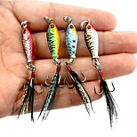 2.5cm 6.4g/PC Mini Lead Fish Lures Bait Road Ferrous Metal Plate Simulation Bait 4PC/Set